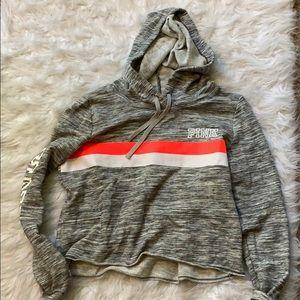 never worn PINK crop hoodie